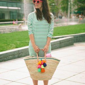 Sonnet James Ava Dress Green Stripe Size M